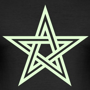 Pentagram, Glow in the dark, five star, magic,  T- - Männer Slim Fit T-Shirt