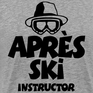 The Après-Ski Instructor T-Shirt (Grau) - Männer Premium T-Shirt