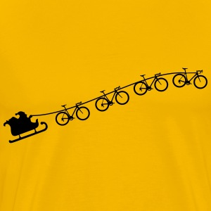 Christmas sleigh from flying racing bikes T-Shirts - Men's Premium T-Shirt