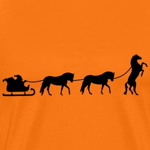 Christmas sleigh with horses from T-Shirts - Men's Premium T-Shirt
