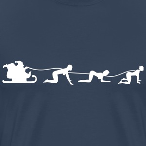 Christmas sleigh with Doggy Style Angel 2.0 T-Shirts - Men's Premium T-Shirt