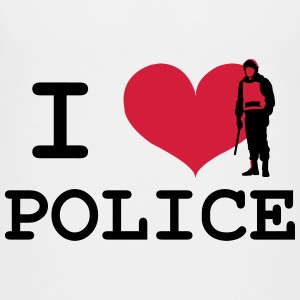 I Love Police Shirts - Teenage Premium T-Shirt