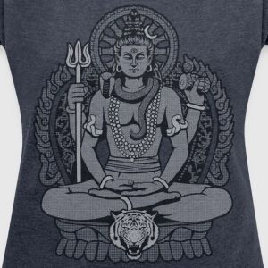 Mahadeva Shiva T-Shirts - Women's T-shirt with rolled up sleeves
