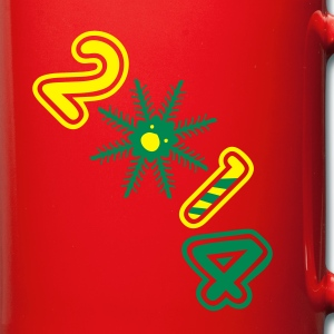 2014 snowflake candy cane Full Colour Mug - Full Colour Mug