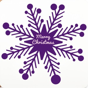 Merry Christmas snowflake Coasters (set of 4) - Coasters (set of 4)