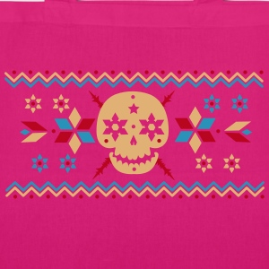 Skull pattern in the Norwegian style  Bags & Backpacks - EarthPositive Tote Bag