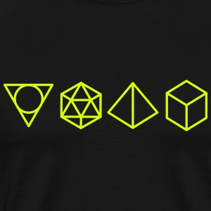 geometric shapes T-Shirts - Men's Premium T-Shirt