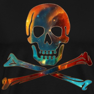 Skull, Crossbones, Space Pirate, Galaxy, Cosmos, Nebula, Star T-Shirts - Men's Premium T-Shirt