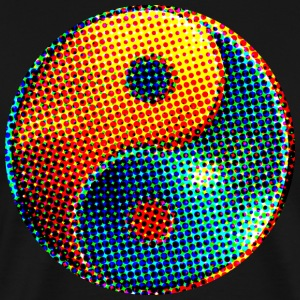 Yin Yang Dots, space, cosmos, universe, galaxy, points T-shirts - Mannen Premium T-shirt