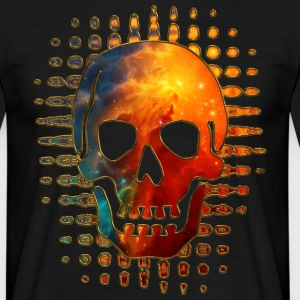 Skull, Space, Galaxy, Cosmos, Nebula, Star T-Shirts - Men's T-Shirt