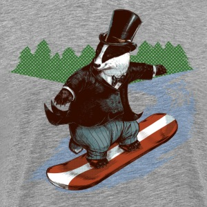 Snowboader Badger T-Shirts - Men's Premium T-Shirt