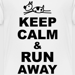 Keep Calm & run away T-Shirts - Teenager Premium T-Shirt