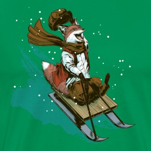 Urchin sledge fox T-Shirts - Men's Premium T-Shirt