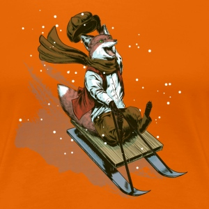 Urchin sledge fox T-Shirts - Frauen Premium T-Shirt