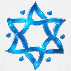 6 Point Star, Merkaba, Star of David, Hexagram, Solomon Magliette - Maglietta da uomo