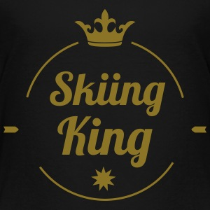 Skiing King T-shirts - Børne premium T-shirt