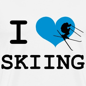 I Love Skiing T-Shirts - Men's Premium T-Shirt