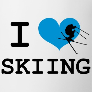 I Love Skiing Mugs & Drinkware - Mug