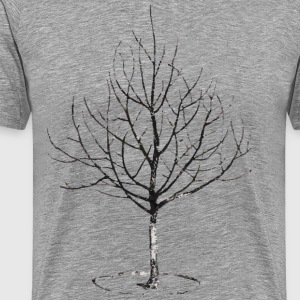 Apple Tree in Winter T-shirts - Mannen Premium T-shirt