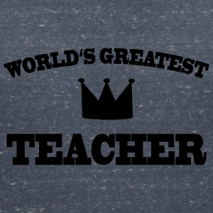 World's greatest Teacher Tee shirts - T-shirt col V Femme
