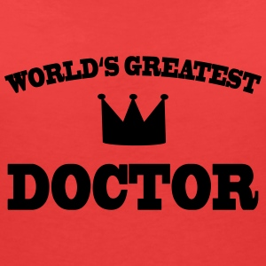 Worlds greatest Doctor T-skjorter - T-skjorte med V-utsnitt for kvinner