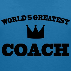 World's greatest Coach T-Shirts - Frauen T-Shirt mit V-Ausschnitt