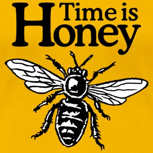 Time Is Honey Beekeeper Quote Design (two-color) Koszulki - Koszulka damska Premium