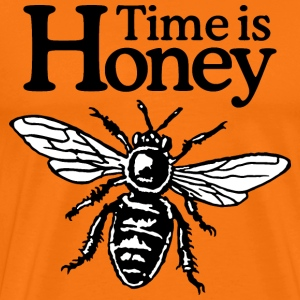Time Is Honey Beekeeper Quote Design (two-color) T-shirts - Mannen Premium T-shirt