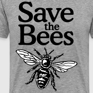 Save The Bees Beekeeper Quote Design (two-color) T-shirts - Mannen Premium T-shirt