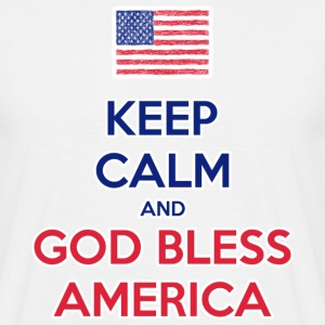 Keep Calm and God bless America Tee shirts - T-shirt Homme
