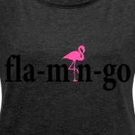 Ontwerp ~ flamingo Shirt BlackText