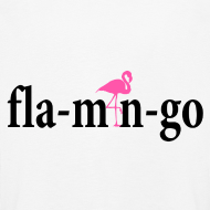 Ontwerp ~ Flamingo Longsleeve Kids Black Text