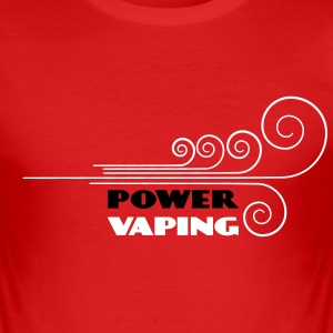 power vaping - Tee shirt près du corps Homme