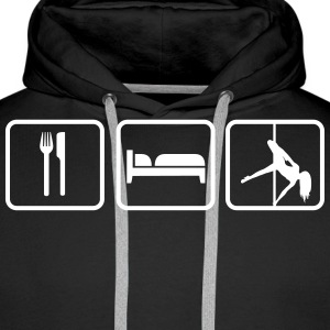 Eat Sleep Poledancing Hoodies & Sweatshirts - Men's Premium Hoodie