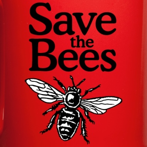 Save The Bees Beekeeper Quote Design (two-color) Bouteilles et Tasses - Tasse en couleur
