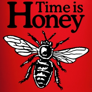 Time Is Honey Beekeeper Quote Design (two-color) Bouteilles et Tasses - Tasse en couleur