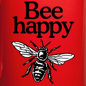 Bee Happy Beekeeper Quote Design (two-color) Bouteilles et Tasses - Tasse en couleur