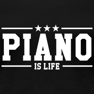 Piano is life T-shirts - Dame premium T-shirt