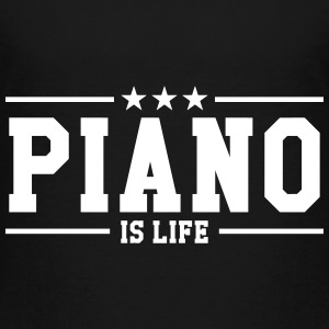 Piano is life Skjorter - Premium T-skjorte for barn