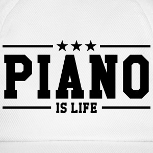 Piano is life Caps & Mützen - Baseballkappe