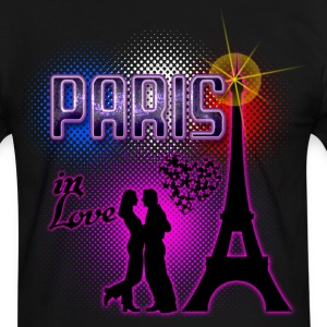 paris in love Tee shirts - T-shirt contraste Homme