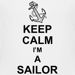 keep_calm_i'm_a_sailor_g1 Shirts - Kinderen Premium T-shirt