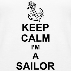 keep_calm_i'm_a_sailor_g1 Toppar - Premiumtanktopp dam