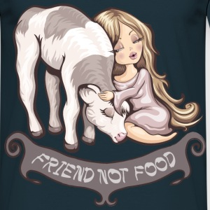 Navy Friend not food T-shirts - Mannen T-shirt