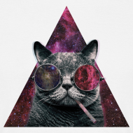 Hipster Cat, Smoking. T-Shirt