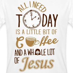 All I need: coffee and Jesus T-Shirts - Men's Organic T-shirt