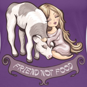 Paars Friend not food T-shirts - Vrouwen Premium T-shirt
