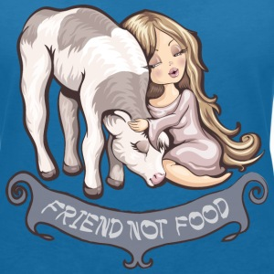 Friend not Food Tee shirts - T-shirt col V Femme