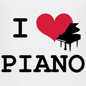I Love Piano Shirts - Teenage Premium T-Shirt