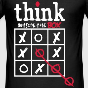 Think Outside The Box T-Shirts - Men's Slim Fit T-Shirt